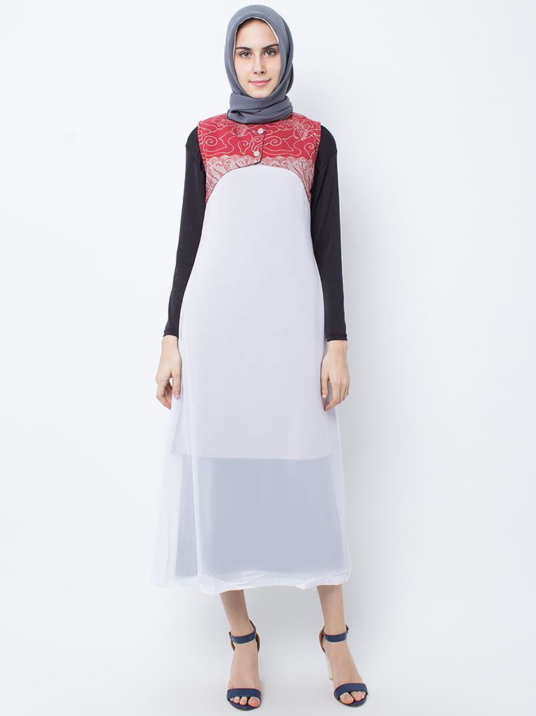 Faiza Dress [Light Red]
